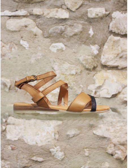 Sandale kaki ou camel