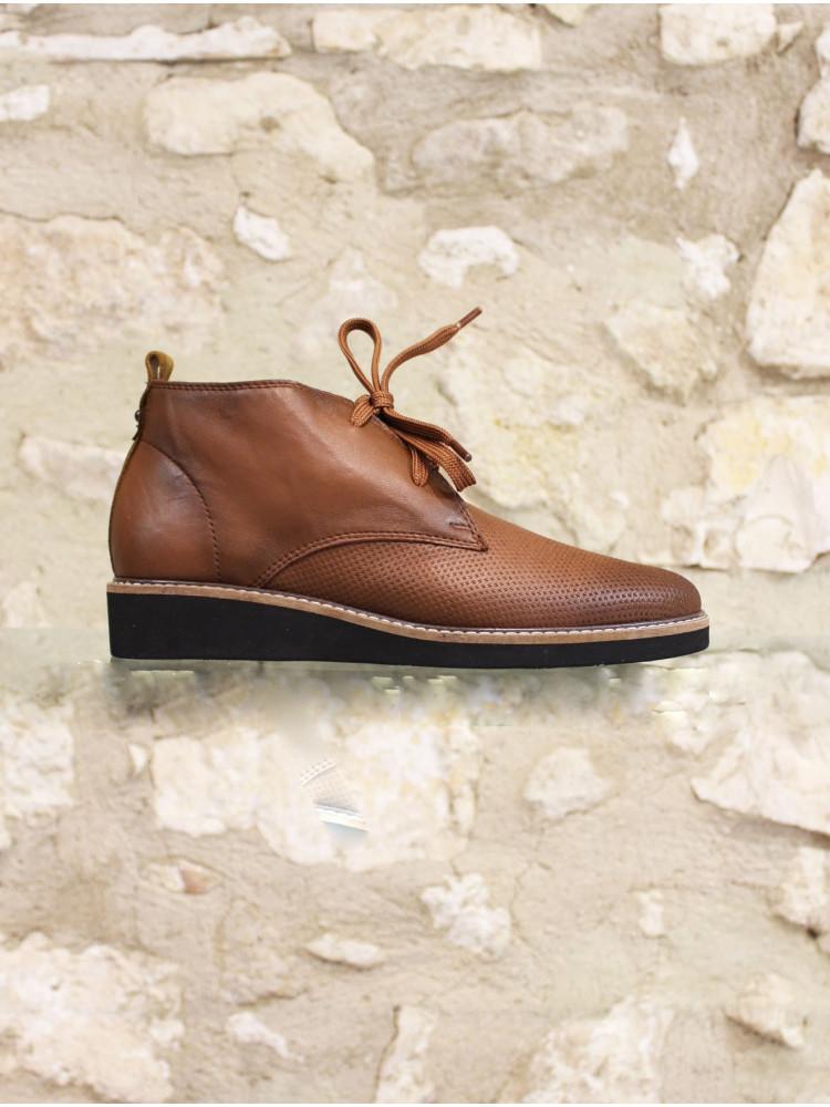 Boots marron vieilli