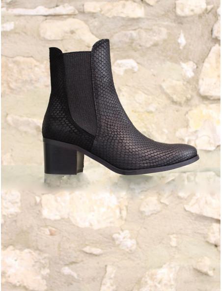 Boots reptile effilée