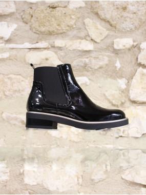 Boots élastiquée vernis noir