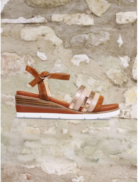Sandale cuir semelle gomme
