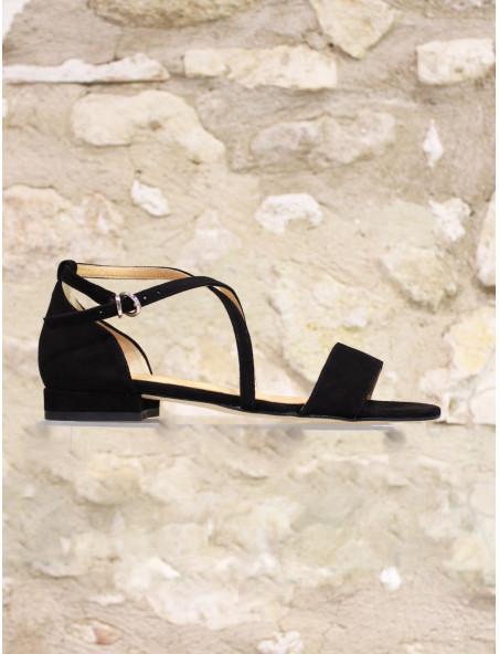 Sandales à contrefort noir