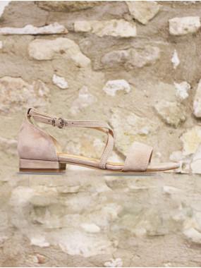 Sandales à contrefort taupe
