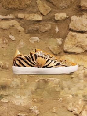 Sneakers camel zebré