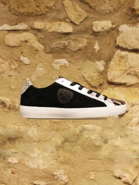 Sneakers noir zebré