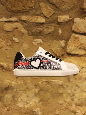Sneakers à coeur