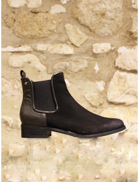 Boots noir bi matière