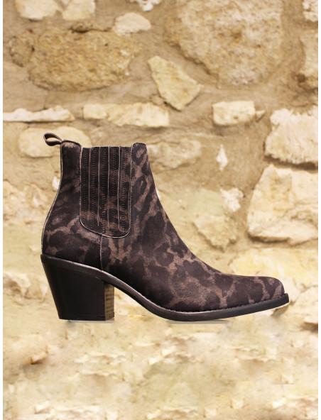 Boots panthere kaki
