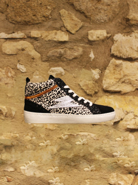 Basket montante leopard