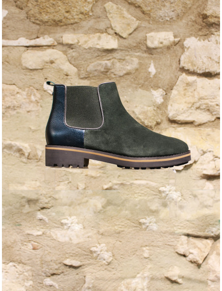 Low boots vert sapin