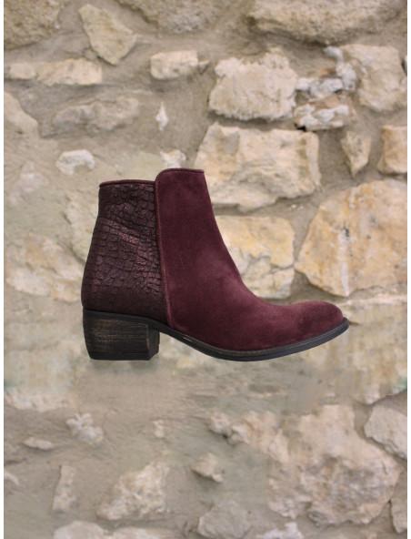 Boots croûte de cuir