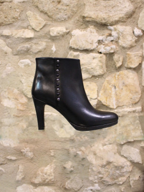 Bottine cuir noir