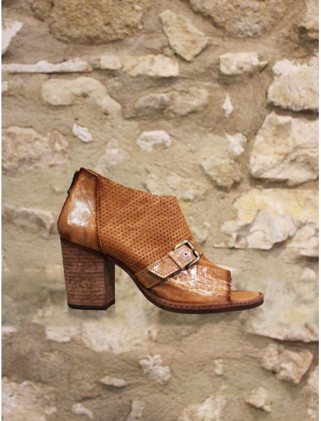 Low boots cuir naturel
